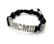 Cz Glass Disco Ball Silver YMCMB Bracelet