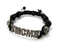 Cz Glass Disco Ball Hematite YMCMB Bracelet
