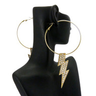 Poparazzi Lightning Bolt BBW Earrings Gold