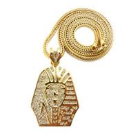 Tyga's Style King Tut Hip Hop Pendant Gold