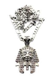 King Tut Hip Hop Pharaoh Pendant Silver
