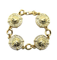 Tyga's Inspired Illuminati Hip Hop Medusa Gold Bracelet