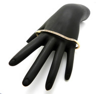 Womens Cz Knuckle Ring Gold
