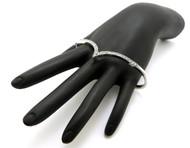 Womens Chevron Pattern Silver Knuckle Rings