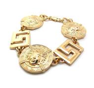 Tyga's Inspired Hip Hop Medusa Gold Bling Bracelet