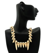 Ladies Rihanna Inspired Gold Claw Necklace
