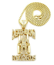 Death Row Records Inspired Hip Hop Chain 14k Gold Pendant