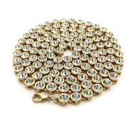 4mm 36 Inch Hip Hop Ballers Cz Stone Iced Out Chain Gold