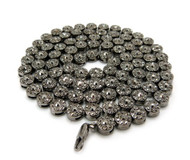 Men's Hip Hop Cluster Iced Out Chain Necklace Black