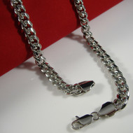 Mens Hip Hop 8mm 24 Inch Miami Cuban Link Chain Necklace Silver