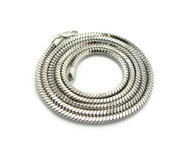 4mm 36 Inch Snake Link Hip Hop Chain Necklace Silver