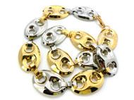 Old School G- Link Style Hip Hop Chain Necklace Gold and Silver
