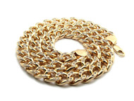 "Mens Hip Hop 30"" Cz Stone Cuban Link Chains Necklace Gold"