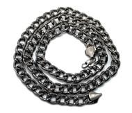"""Mens Hip Hop 36"""" Cz Stone Cuban Link Chains Necklace Black"""
