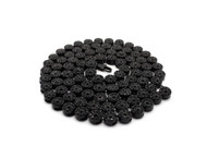 Men's Hip Hop Cluster Iced Out Chain Necklace Black Charcoal