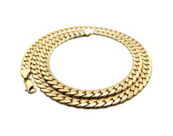 "Men's Close Cut 7mm 24"" Miami Cuban Link Chain Necklace"