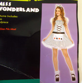 Miss Wonderland Child Teen Costume Dress OSFM NIP
