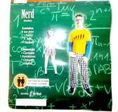 Nerd Male Adult Costume Glasses Belt XL 40-42 NIP
