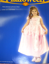 Princess Pink Shimmer Costume Dress S 4-6 NWT