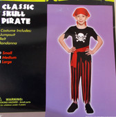 Classic Skull Pirate Child Costume Medium NIP