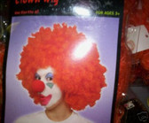 Red Curly Afro Clown Wig Costume New
