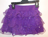 Purple Stardot Ruffled Skirt Child Costume L 10-12 NWT