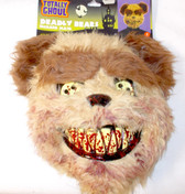 Deadly Bear Bears Brown Tan Adult  Mask OSFM NWT