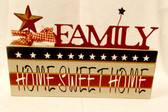 Family Home Sweet Home Americana Wooden Table Decor 10' NWT