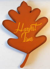 Harvest Time Wood Autumn Splendor Leaf Sign Wall Hanging Decor 11' NWT