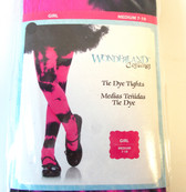 Black Pink Tie Dye Child Tights 7-10 NIP