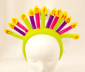 Happy Birthday Candles Party Headband Purple Pink Green NWT