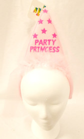 Party Princess Pink Marabou Veil Birthday Headband Costume NWT