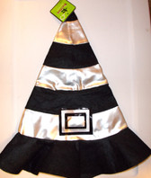 Halloween Silver Black Felt Witch Hat Child 3+ NWT