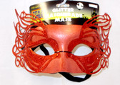 Red Glitter Masquerade Mardi Gras Mask Adult OSFM NWT