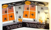Black Spider Glitter 7' Cutouts Halloween Decor Lot 18 NIP