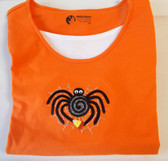 Black Spider Candy Corn Long Sleeve T-shirt Women's XL