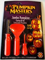 Pumpkin Carving Kit Jumbo Pumpkins Patterns Saw Scoop NIP