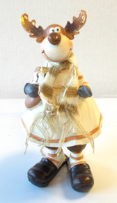 Standing Female Deer Holding a Stocking Table Decor 8' NWT