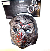 Tear Away 2 Piece Gray Zombie Adult Mask One Size NWT
