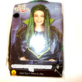 Oz Wicked Witch Child Green Glitter Wig 18' fits Ages 6 and Up NIP