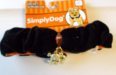 "Black Velvet Neck Collar Scrunchie Dog Pet S 8-10"" NWT"