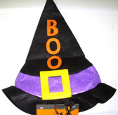 Halloween Boo Purple Black Felt Witch Hat Child 3+ NWT