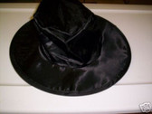 Black Satin Gangster Dracula Hat Costume Dress-up NWT