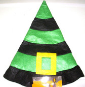 Halloween Green Black Felt Witch Hat Child 3+ NWT