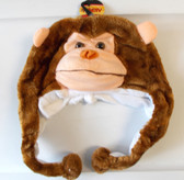 "Monkey Brown Zoo Animal Fur Fleece 16"" Hat Child Costume Hat 5-8 NWT"