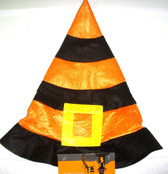 Halloween Orange Black Felt Witch Hat Child 3+ NWT