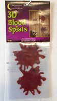 3D Blood Splats Halloween Gel Clings Window Mirror Decor  NIP