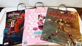 Marvel Spiderman Ironman Minnie Mouse Plastic Trick Or Treat Bag Lot 20 NWT