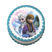 Disney Frozen Anna Elsa Sisters edible cake image NEW