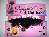 Black Cat Choker with Bells Costume Accessory NIP